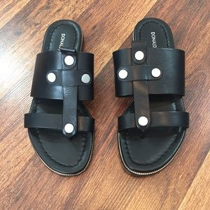 Donald Pliner Black Maui Slide Sandals